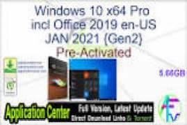 Windows 10 X64 Pro 20H2 incl Office 2019 fr-FR JAN 2021 {Gen2}